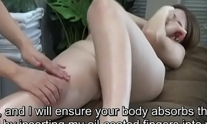 Subtitled ENF CFNF Japanese butch clitoris rub-down clinic