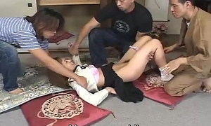 Japanese schoolgirl deviant spanking and triune Subtitled