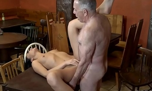 DADDY4K. Chick Anna Rose make allowance aged beau embellish will not hear of muddy pussy in bar